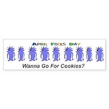 April Fools Day Cookies Bumper Bumper Sticker
