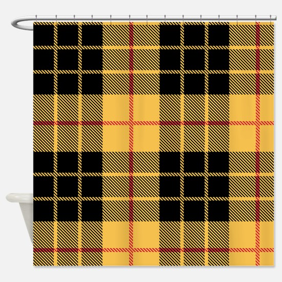 Yellow Argyle Shower Curtain
