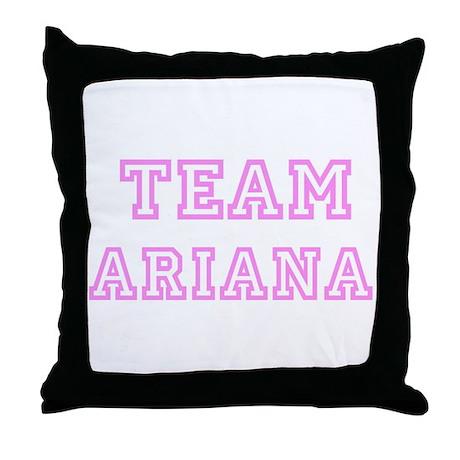 Pink team Ariana Throw Pillow