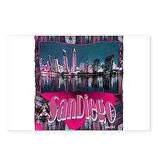 sandiego art illustration Postcards (Package of 8)