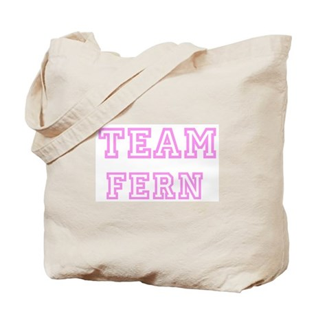 Pink team Fern Tote Bag