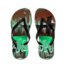 sandiego abstract background with Flip Flops