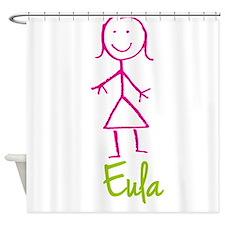 Eula-cute-stick-girl.png Shower Curtain