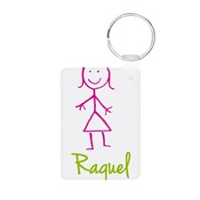 Raquel-cute-stick-girl.png Keychains