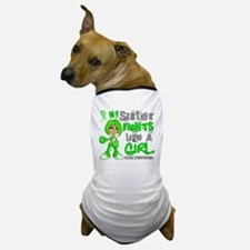 Fights Like a Girl 42.9 Lymphoma Dog T-Shirt
