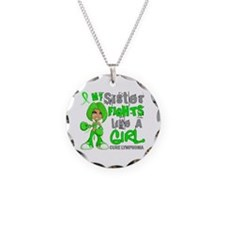 Fights Like a Girl 42.9 Lymphoma Necklace