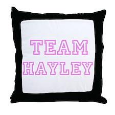 Pink team Hayley Throw Pillow