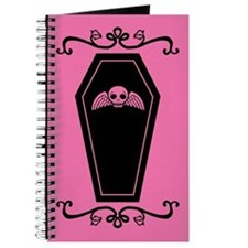 Cute Pink And Black Coffin Journal