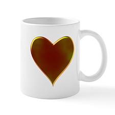 Heart Metallic Golden Valentine Small Mug