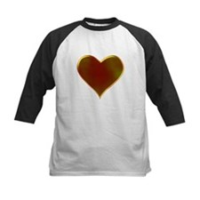 Heart Metallic Golden Valentine Tee