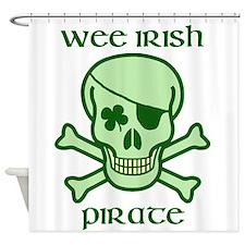Wee Irish pirate Shower Curtain