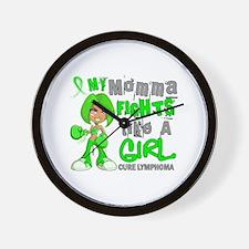 Fights Like a Girl 42.9 Lymphoma Wall Clock