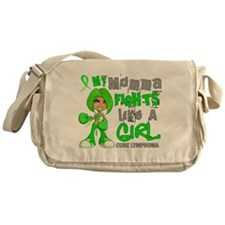 Fights Like a Girl 42.9 Lymphoma Messenger Bag