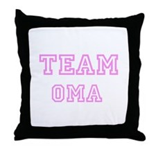 Pink team Oma Throw Pillow