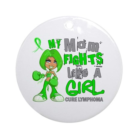 Fights Like a Girl 42.9 Lymphoma Ornament (Round)