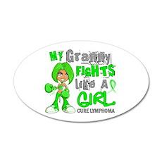 Fights Like a Girl 42.9 Lymphoma Wall Decal