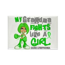 Fights Like a Girl 42.9 Lymphoma Rectangle Magnet
