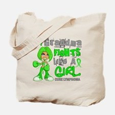 Fights Like a Girl 42.9 Lymphoma Tote Bag
