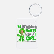 Fights Like a Girl 42.9 Lymphoma Keychains
