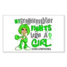 Fights Like a Girl 42.9 Lymphoma Decal