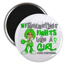 Fights Like a Girl 42.9 Lymphoma Magnet