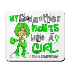 Fights Like a Girl 42.9 Lymphoma Mousepad