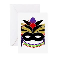 Mardi Gras Feather Mask Greeting Card