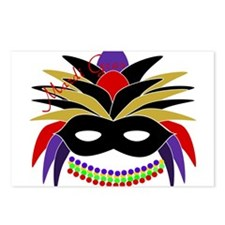 Mardi Gras Feather Mask Postcards (Package of 8)
