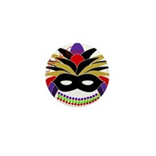Mardi Gras Feather Mask Mini Button