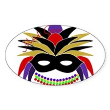 Mardi Gras Feather Mask Decal