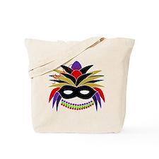 Mardi Gras Feather Mask Tote Bag