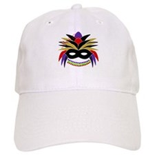 Mardi Gras Feather Mask Baseball Cap