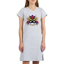Mardi Gras Feather Mask Women's Nightshirt