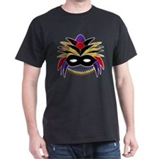 Mardi Gras Feather Mask T-Shirt