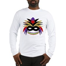Mardi Gras Feather Mask Long Sleeve T-Shirt