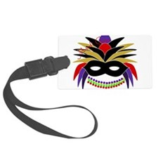 Mardi Gras Feather Mask Luggage Tag