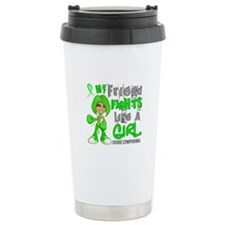 Fights Like a Girl 42.9 Lymphoma Travel Mug