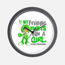 Fights Like a Girl 42.9 Lymphoma Wall Clock