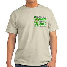 Fights Like a Girl 42.9 Lymphoma T-Shirt
