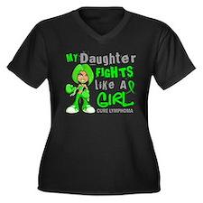 Fights Like a Girl 42.9 Lymphoma Women's Plus Size