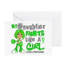 Fights Like a Girl 42.9 Lymphoma Greeting Card