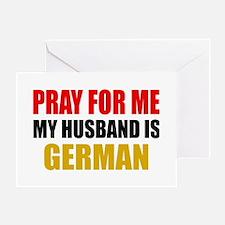 Pray Husband German Greeting Card