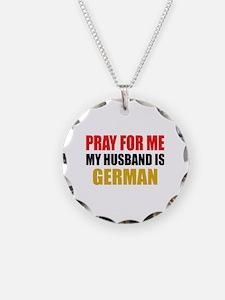 Pray Husband German Necklace Circle Charm