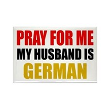 Pray Husband German Rectangle Magnet