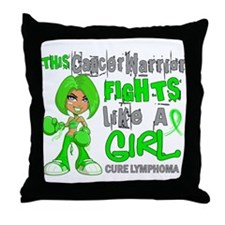 Fights Like a Girl 42.9 Lymphoma Throw Pillow