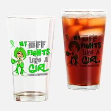 Fights Like a Girl 42.9 Lymphoma Drinking Glass