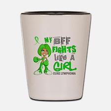 Fights Like a Girl 42.9 Lymphoma Shot Glass