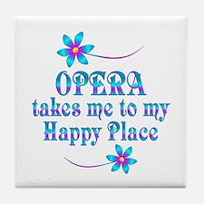 Opera My Happy Place Tile Coaster