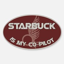 Starbuck is my co-pilot Bumper Decal