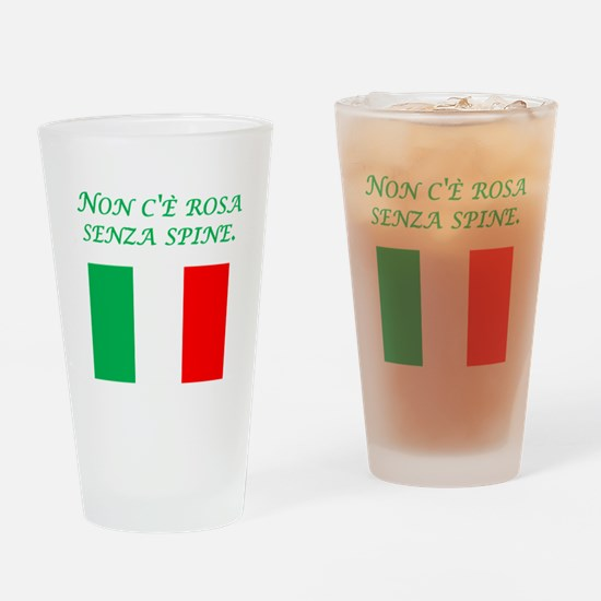 Italian Proverb Rose Thorn Drinking Glass